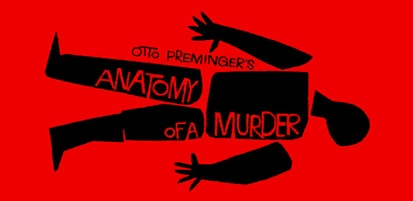 """Saul Bass movie poster for Otto Preminger movie """"Anatomy of a Murder"""""""